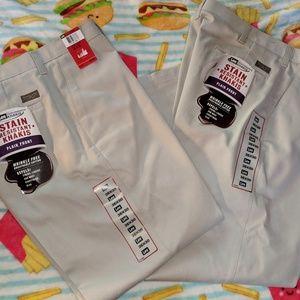 New Lee men's 36 30 khaki tan pants dress work